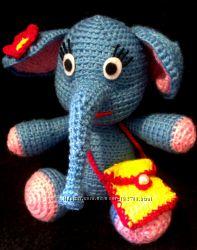 Слон, вязаная игрушка