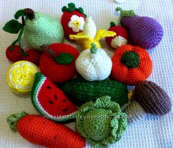 Фрукты и овощи вязаные, ручная работа