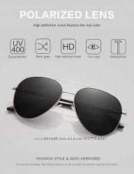 женские солнцезащитные очки Aviator Polarized Black от LUENX