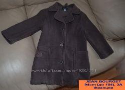 Пальто taupe утеплённое, Jean Bourget, 3-4 года.