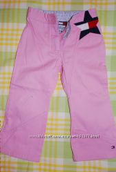 Розовые брючки-джинсы TOMMY HILFIGER стильняшке 2 лет, с ньюансом