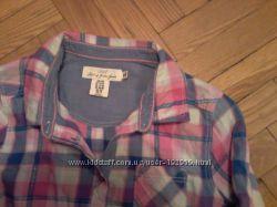 Рубашка в клетку H&M, 12-13 лет, рост указан 158 см