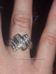 Кольцо белое золото 14к. бриллиантами