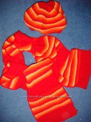 Шапка, шарф -яркий  комплект Ferz. Отличный состав. Утепляемся.