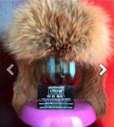 Продам стильную шапку-ушанку из норки  лиса натур