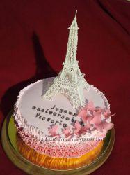 Торт Эйфелева башня, домашние торты на заказ в Киеве