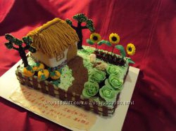Торт для любителей садово-огородного хозяйства, на заказ Киев