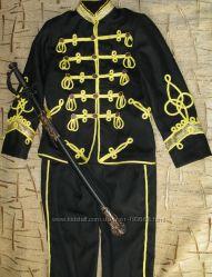 напрокат костюм гусара, рост 104-110см