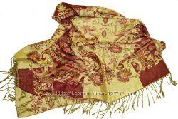 Палантин теплый, турецкие мотивы. Шарфы, платки.