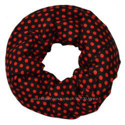 Шарф красный горох. Теплый. Шарфы, шарфики, снуды, платки, палантины