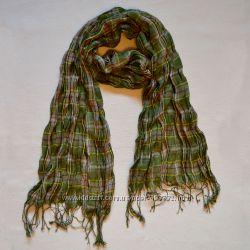 Зеленый шарф. Клетка. Шарфы