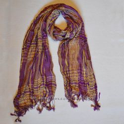 Шарф фиолетово-желтый. Шарфики, шарфы, снуды