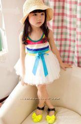 Нарядный пышный сарафан хлопок 90-135см пышная юбка платье