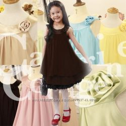 Скидка Изумительное нарядное платье для юной леди 90-110 рост