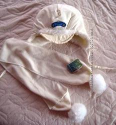 КОмплект Шапка и шарф на 1-1, 5 года новый