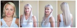 Наращивание волос на трессах и ленточное