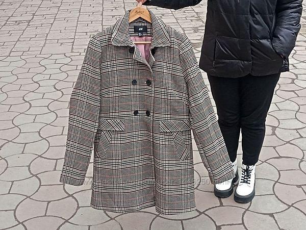 Женское пальто в клетку H&M