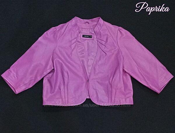 Кожаная женская куртка балеро Paprika