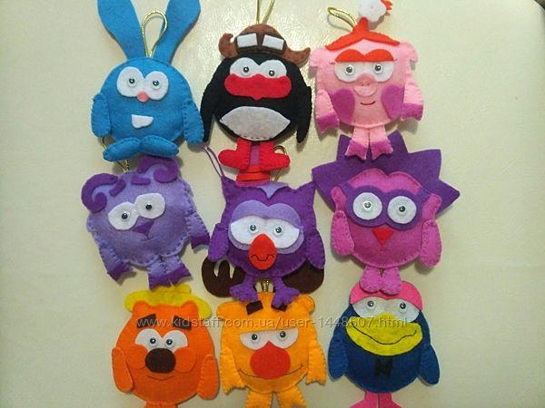 игрушки, смешарики, игрушка из фетра, смешарики из фетра