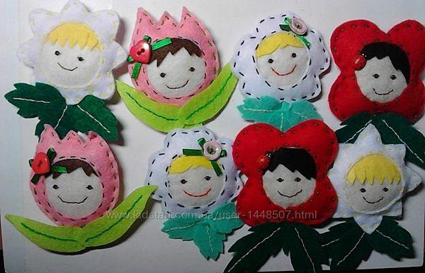Праздник весны, 8 марта, подарок девочке, игрушка из фетра на 8 марта