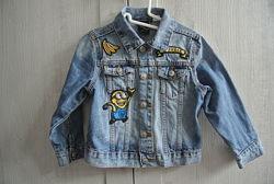 Стильная джинсовая куртка пиджак H&M