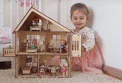 Кукольный домик для лол с мебелью.  Игрушки для девочек. Дом для лол. лол