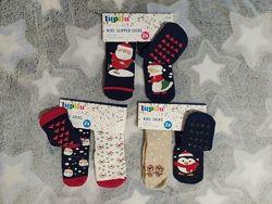 Детские тёплые махровые носки носочки ABS с тормозами Lupilu Германия, 23-2