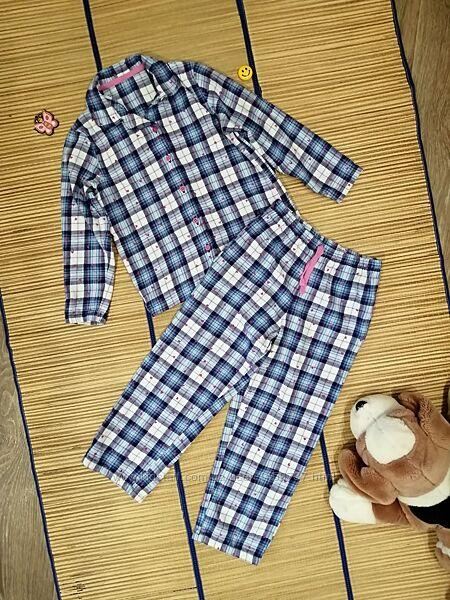 Пижама теплая для девочки 6-7лет