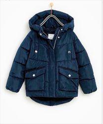Куртка парка Zara размер 152 см. Замеры внутри