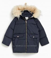 Новая куртка парка  Zara  на пуху р-р 9 лет 140 см. Замеры внутри