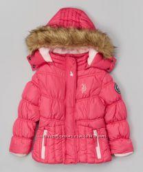 фирменная курточка U. S. Polo Assn для девочек , размер 7-8,