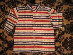 Джинсовая рубашка H&M для мальчика, рост 116