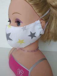 Маска Звезды защитная многоразовая взросла детская тканевая маска захисна