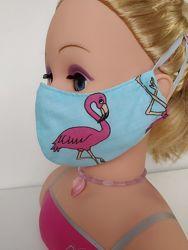 Маска Фламинго защитная многоразовая взросла детская тканевая маска захисна