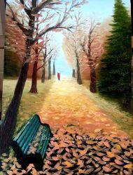 Картина Осенний пейзаж, масло, холст