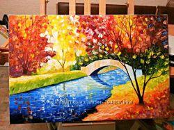 Картина Яркая осень. Под заказ