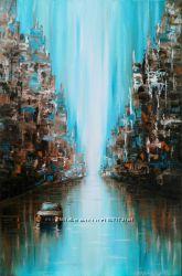 Современная абстракция, 40х60 см, масло