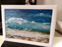 Картина маслом Морская волна