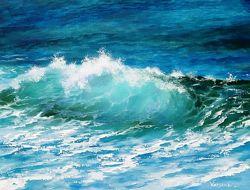 Картина Бирюзовая волна, масло
