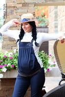 Утепленные джинсы для беременных Mama-Style