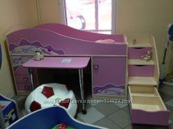 Веселая мебель уют и комфорт, сказочный сон малышу принесет. Кроватки