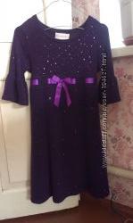 Нарядное платье на девочку 9-13 лет