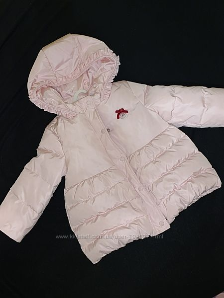 Пуховик курточка зимний на девочку р.86