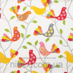 Шторы Прованс, ткань 071046, шторы в птицах