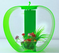 Аквариум в форме яблока с подсветкой Apple Cleair