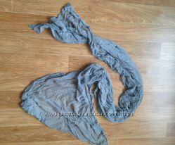 Шарфик шарф весенний длинный дымчатый серый стильный