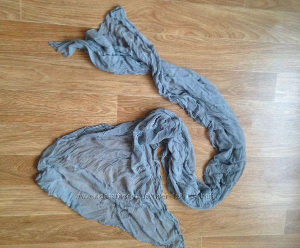 Шарфик шарф длинный дымчатый серый стильный демисезонный