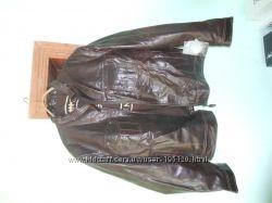 кожаная куртка пилот фирмы Silver