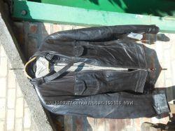 кожаная куртка пилот фирмы Silver из качественной кожи размер 52.