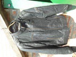кожаная куртка пилот фирмы Silver из качественной кожи размер 52. Точные р